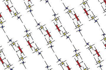 Mondrianoid 5 von Henk-Jan van Tuyl