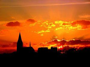 stralende zonsondergang