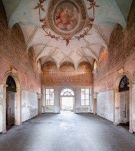 Fresko in verlassenem Palast.