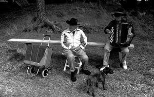 Cowboys in Noorwegen met een hond
