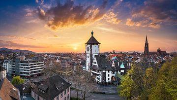 Freiburg Sonnenuntergang Panorama von Michael Abid