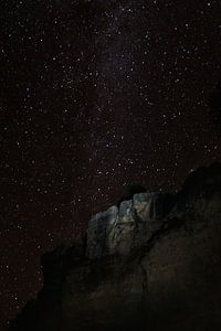 Sterrenhemel en melkweg bij de Grand Canyon