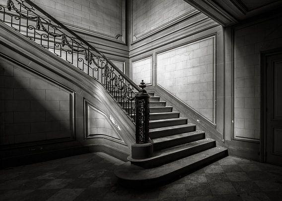 Trap2 zwart /wit van Olivier Van Cauwelaert