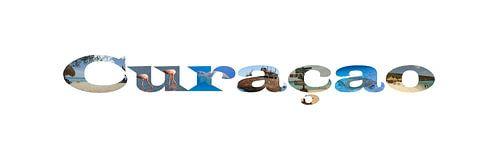 Curacao met de hoogtepunten in de letters