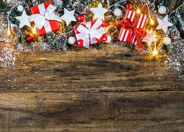 Kerstversiering met geschenkdozen, stervormen, van Alex Winter
