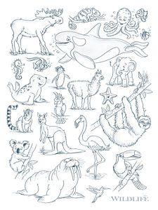 lustige Tierzeichnungen