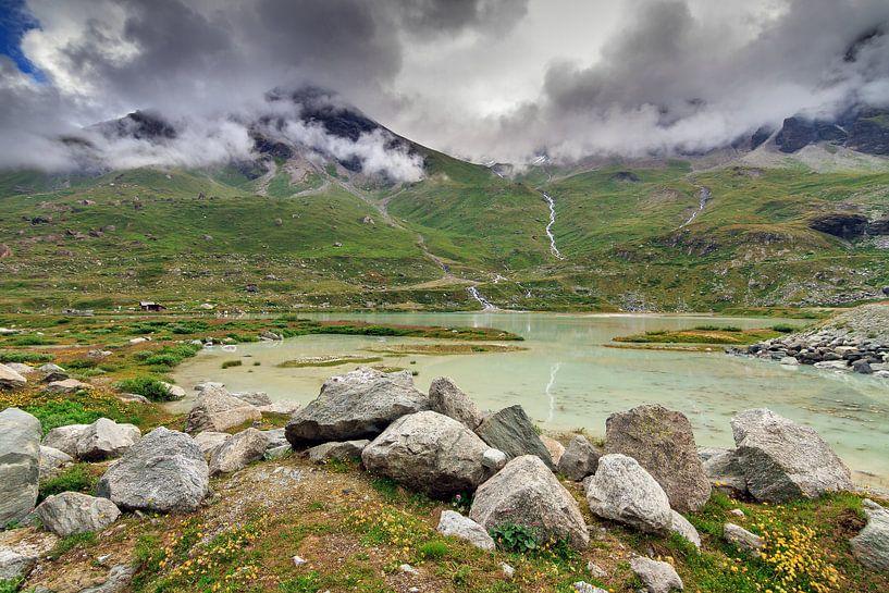 Moiry landschap in de zomer von Dennis van de Water