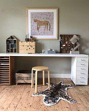 Kundenfoto: LEOPARD PRINT, luipaard print von Laura Knüwer, auf gerahmtes poster