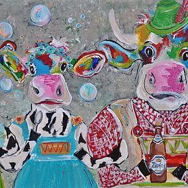 Oostenrijkse koe Jodelahiti van Kunstenares Mir Mirthe Kolkman van der Klip