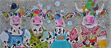 Vache autrichienne Jodelahiti sur Kunstenares Mir Mirthe Kolkman van der Klip