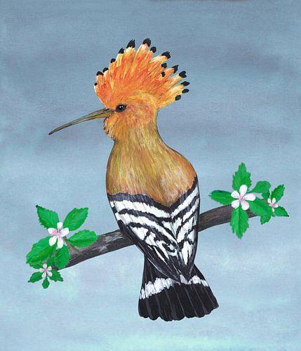 Hop vogel schilderij