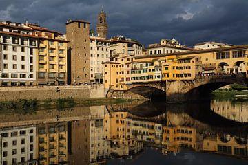 Ponte Vecchio brug in Florence van Jan Kranendonk
