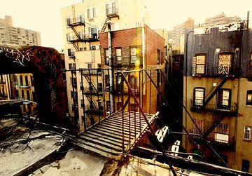 Op het dak van Ludlowstreet (New York City) van Marcel Kerdijk