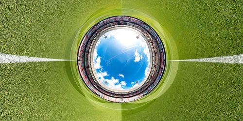 Stadion Feijenoord De Kuip360 foto corona spandoeken, Spandoekenzee kleur