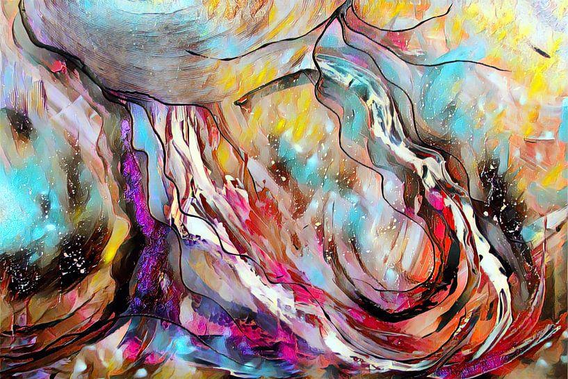Abstrakte Kunst - Bunte Explosion Rechteck von Patricia Piotrak