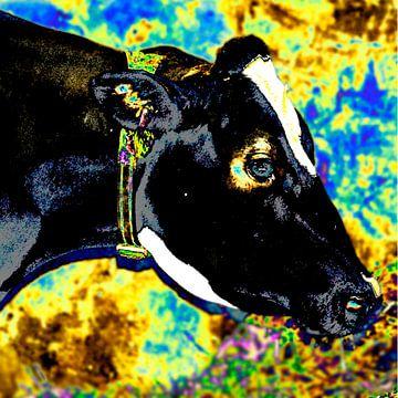Koe, staat er gekleurd op van Ina Hölzel
