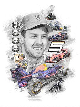 Sebastian Vettel van Theodor Decker