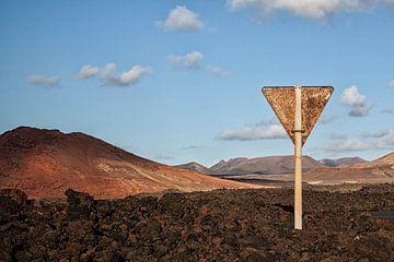 Lanzarote rusty landscape van Peter van Eekelen