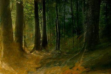 Kunstvoller Herbstwald von Heike Hultsch