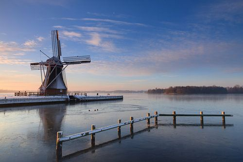Winter windmill van Sander van der Werf