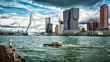 """Skyline"""" Rotterdam (version couleur) sur Rick van der Poorten"""