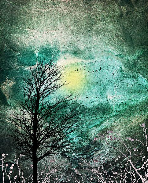 TREES under MAGIC SKY I van Pia Schneider