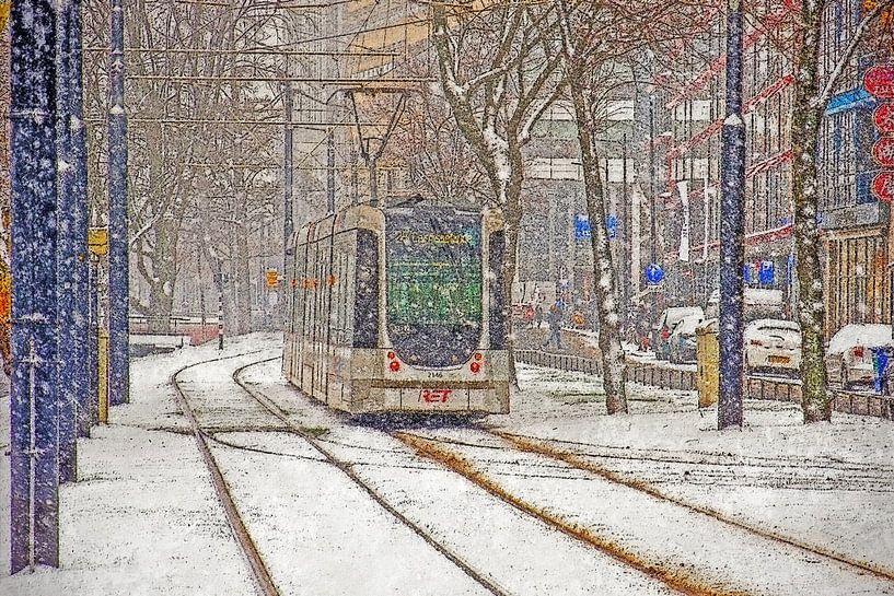 Winter op de Mauritsweg van Frans Blok