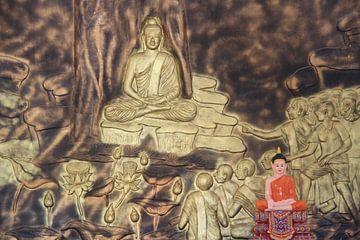 Aanbeden Buddha van Mr Greybeard