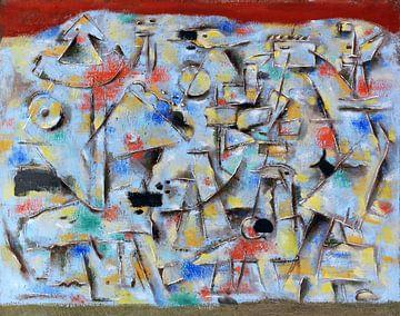 Blaue Figurenhalde, WILLI BAUMEISTER, 1947