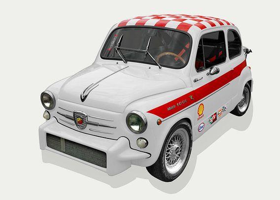 Fiat Abarth 1000 TC in het wit