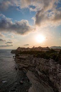 Zonsondergang bij Bonifacio, Corsica