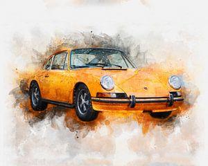 Porsche 911 Aquarell
