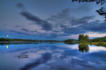 Nachtlandschap Zweden van Patrick vdf. van der Heijden