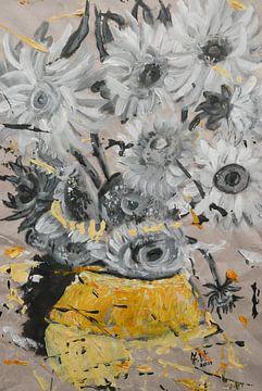 zonnebloemen met een beetje van van Gogh van jolanda verduin