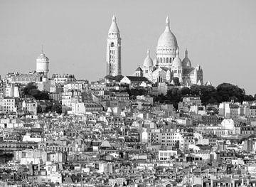 Uitzicht op de Sacre-Coeur, Montmartre van Michaelangelo Pix