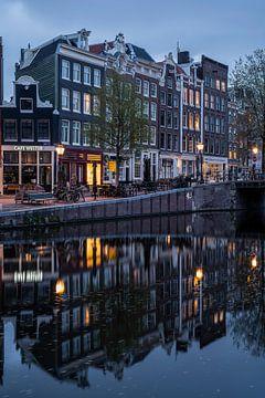 Maisons sur le canal à Amsterdam sur Manuuu S