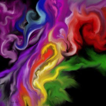Abstrakte Kunst - Der Feuerengel von Patricia Piotrak