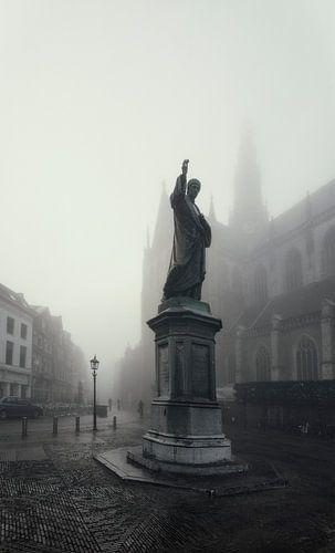 Lautje in de mist.