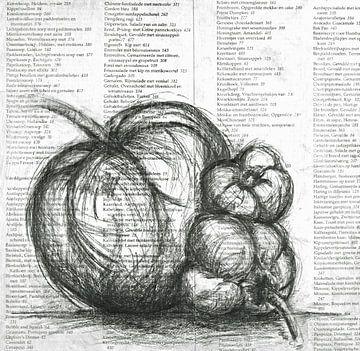 Schwarze - Weiße Paprika von Ineke de Rijk