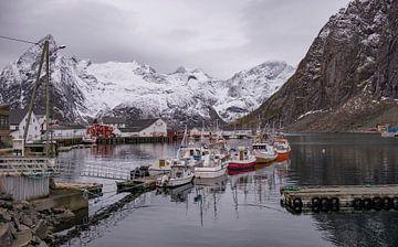 Reine , Lofoten Noorwegen von Henk v Hoek