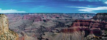 Panoramafoto van de Grand Canyon, Arizona, VS van Rietje Bulthuis