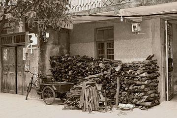 Scène de village des années 50 sur Inge Hogenbijl