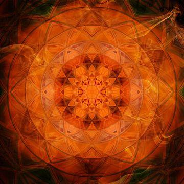 Mandala orange sur Sabine Wagner