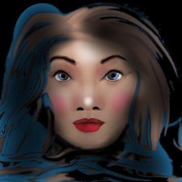 Portrait vrouw van Raina Versluis