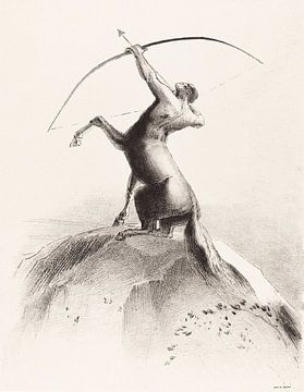 Zentaur, der auf die Wolken zielt, Odilon Redon, 1895