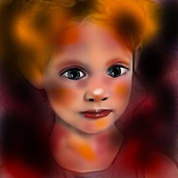 Meisje portret van Raina Versluis