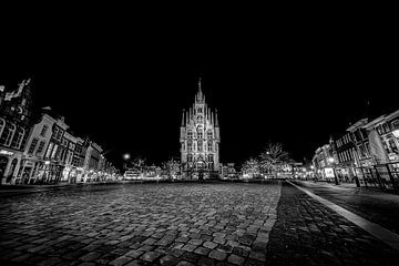 Rathaus Gouda bei Nacht von Eus Driessen
