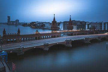 Berlin Oberbaumbrücke aus der Vogelperspektive von Jean Claude Castor