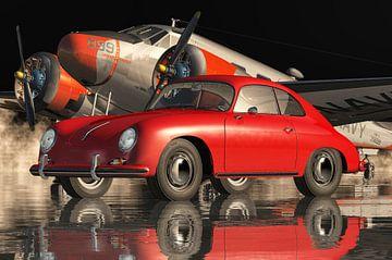Porsche 356 C 1964 Rot von Jan Keteleer