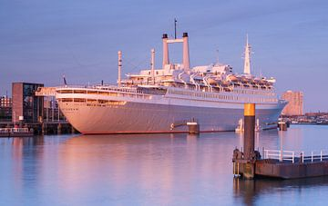 SS Rotterdam at sunset